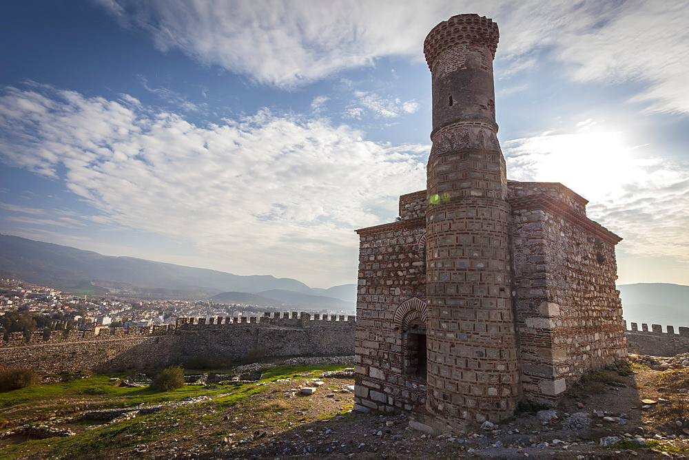 Selcuk Castle And Mosque With Minaret, Ephesus, Turkey