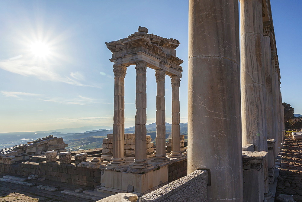 Ruins Of The Temple Of Trajan, Pergamum, Turkey