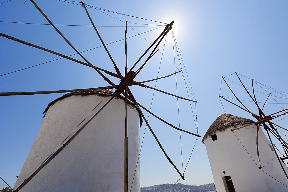 Traditional Windmills, Chora, Mykonos, Greece