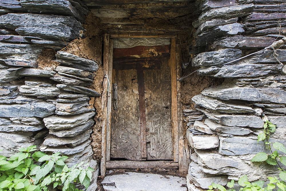 Door In A House In Zhibiani Village, Ushguli, Samegrelo-Zemo Svaneti, Georgia