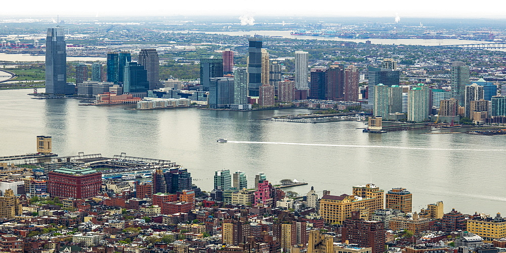 Manhattan And Brooklyn On Either Side Of The East River, New York City, New York, United States Of America