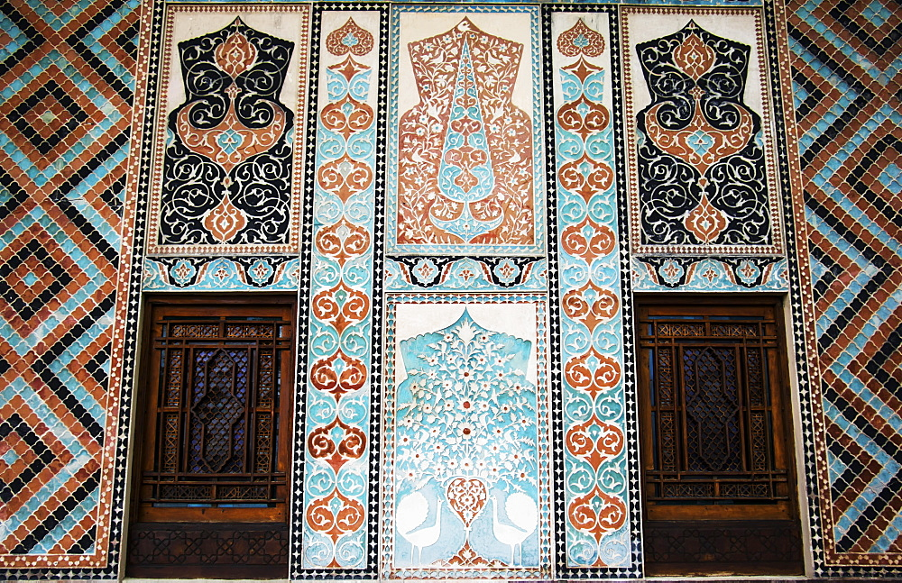 Tile Decorations On The Facade Of The Palace Of Shaki Khans, Shaki, Azerbaijan