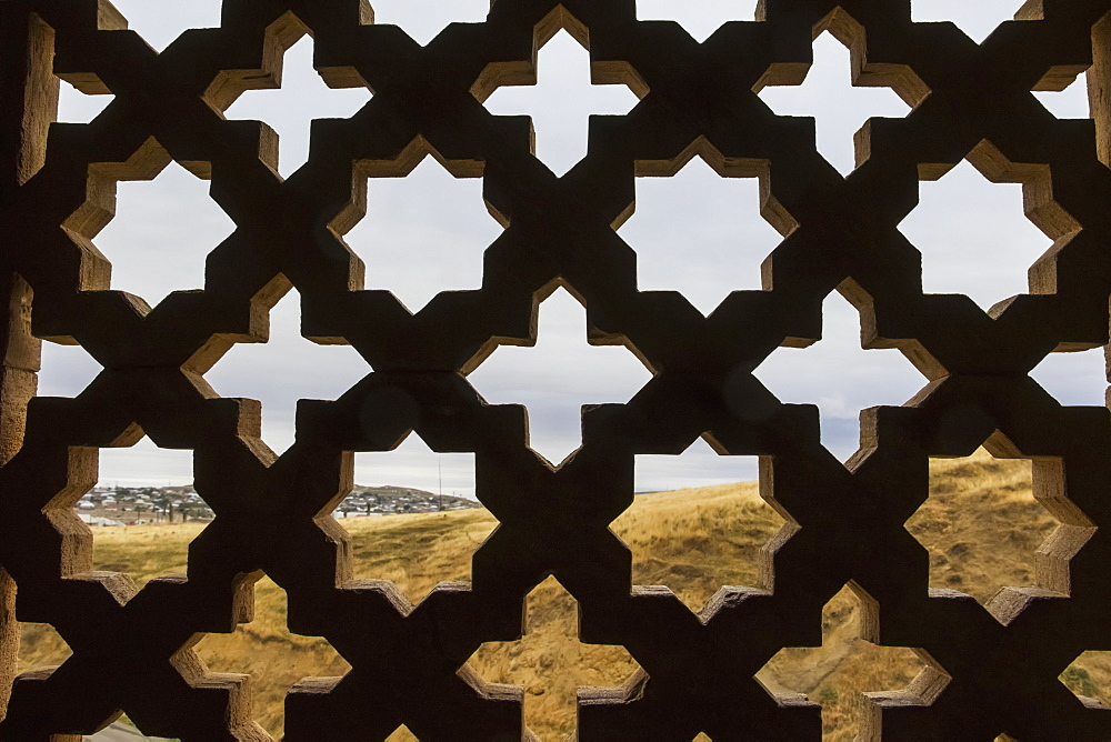 Stone Lattice Window In The Diri Baba Mausoleum, Gobustan Rayon, Azerbaijan
