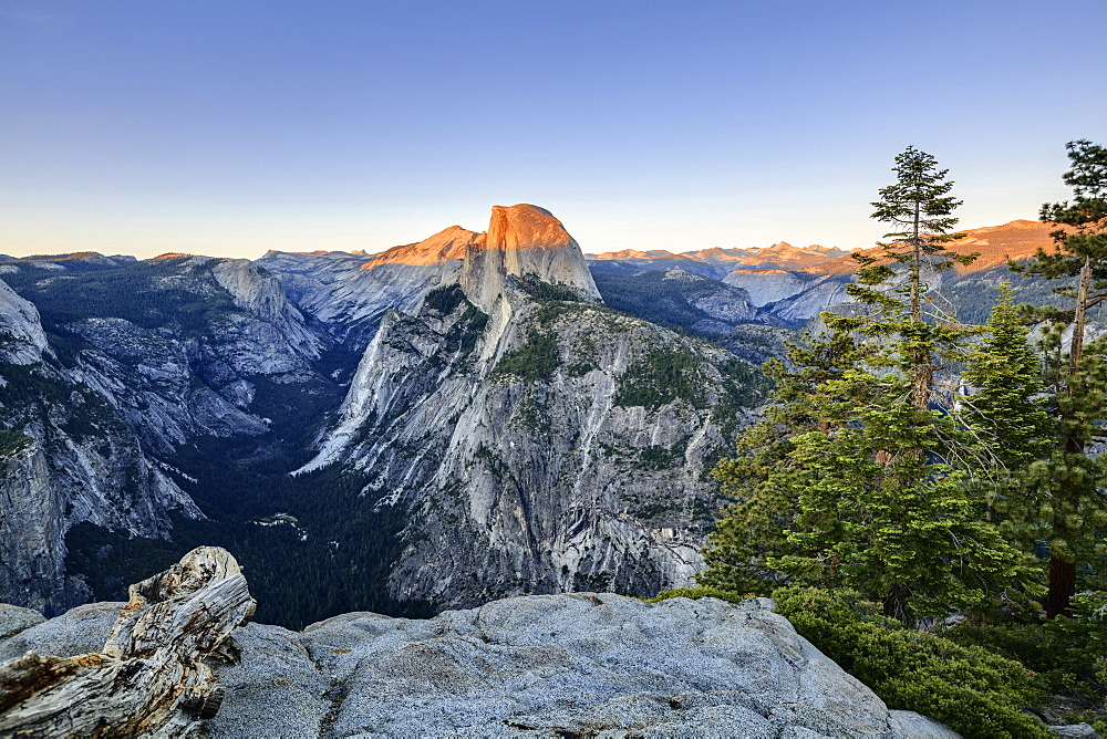 View From Glacier Point At Sunset, Yosemite National Park, California, United States Of America