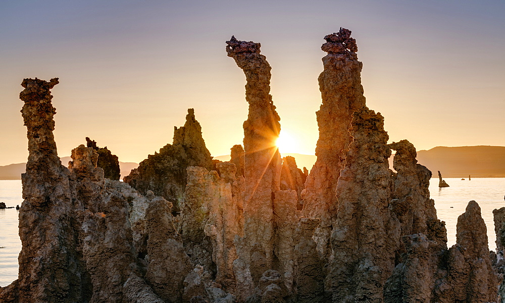 Tufa Formations At Sunrise, Mono Lake, Lee Vining, California, United States Of America