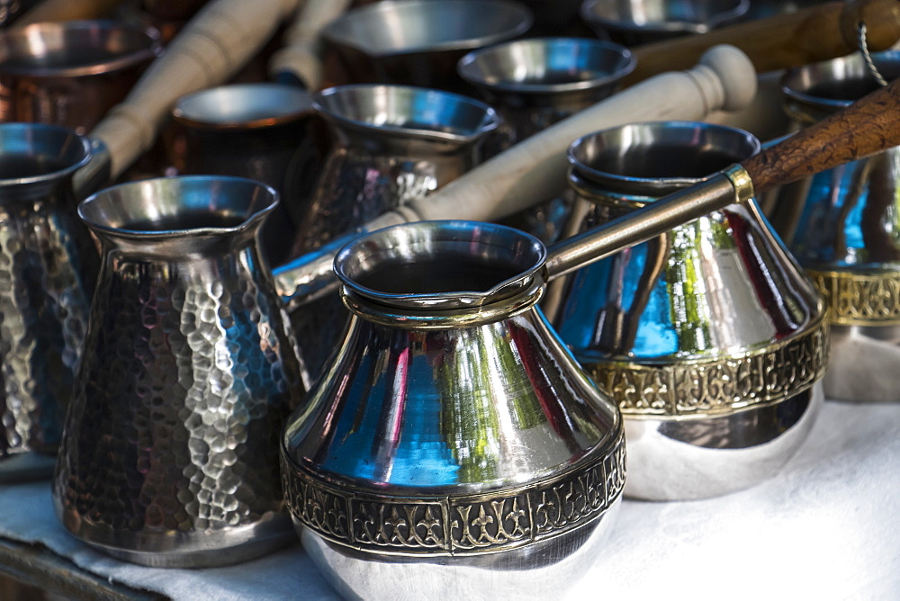 Armenian Coffee Pots For Sale At The Vernissage Market, Yerevan, Armenia