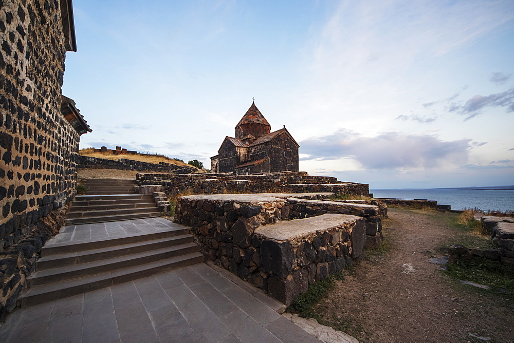 Surp Arakelots (Holy Apostles Church) Of The Sevanavank (Sevank Monastery) Overlooking Lake Sevan, Gegharkunik Province, Armenia
