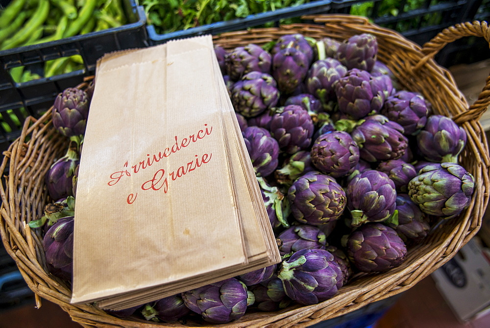 Roman Artichokes For Sale At Piazza Dell'unita Market, Rome, Italy - 1116-46310