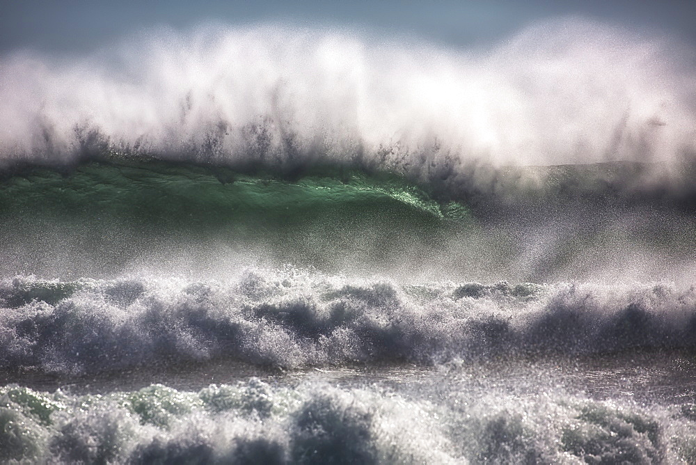 Large Waves From The South Atlantic Ocean Pound The Shore Of Cape Good Hope, South Africa