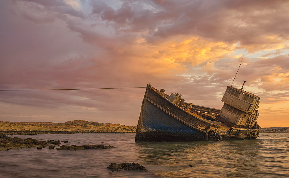 "The ""elena"" Shipwreck Outside Of Luderitz, Namibia"