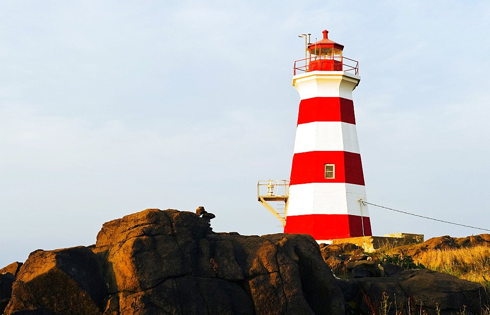 Brier Island Lighthouse, Bay Of Fundy, Brier Island, Nova Scotia, Canada