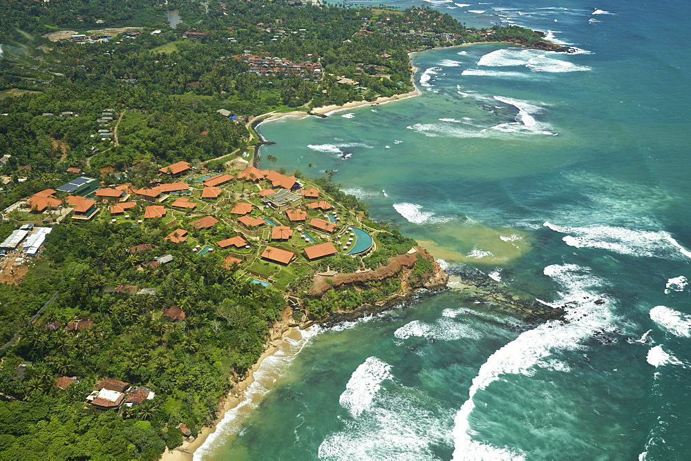 Aerial View Of Cape Weligama Resort And Coastline, South Sri Lanka