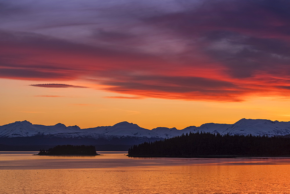 Sunset, Auke Bay, Juneau, Alaska, United States Of America