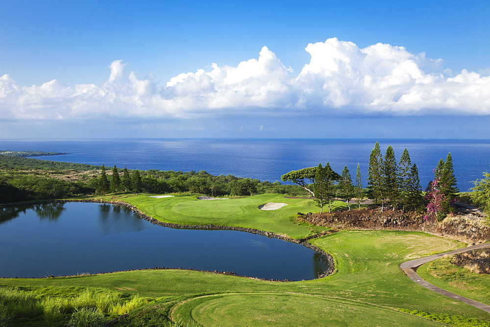 Golf Course, Kona Country Club, Kailua Kona, Island Of Hawaii, Hawaii, United States Of America