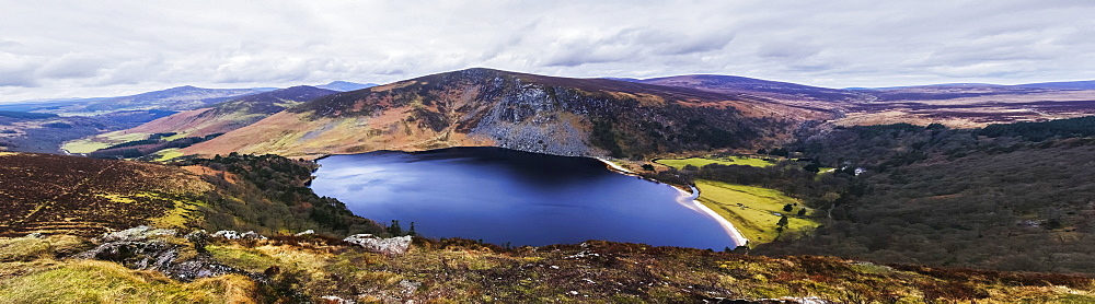 Panoramic View Of Stunning Guinness Lake, Wickow County, Ireland