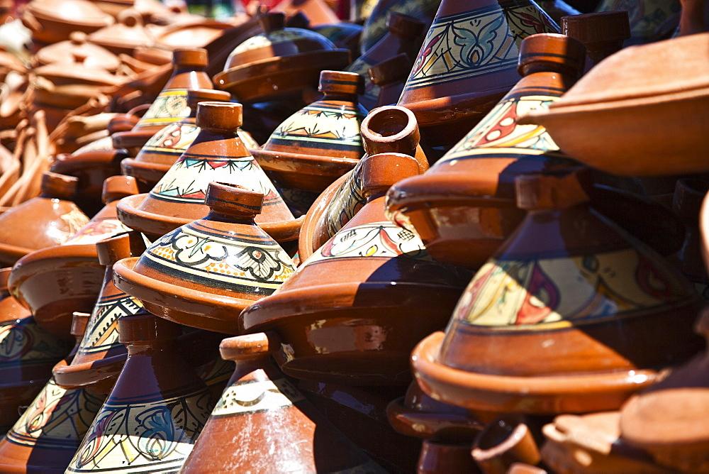 Tagine Pots In A Market, Meknes, Morocco