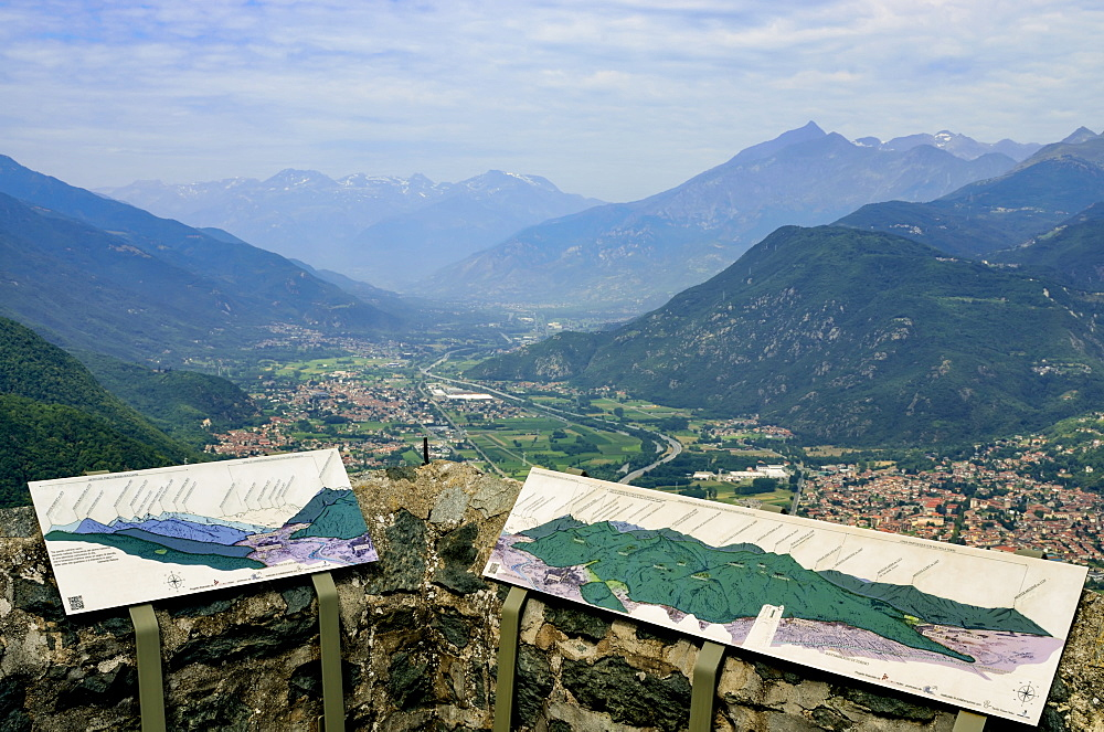 View Of Susa Valley From Sacra Di San Michele, San Ambrogio Of Turin, Piedmont, Italy