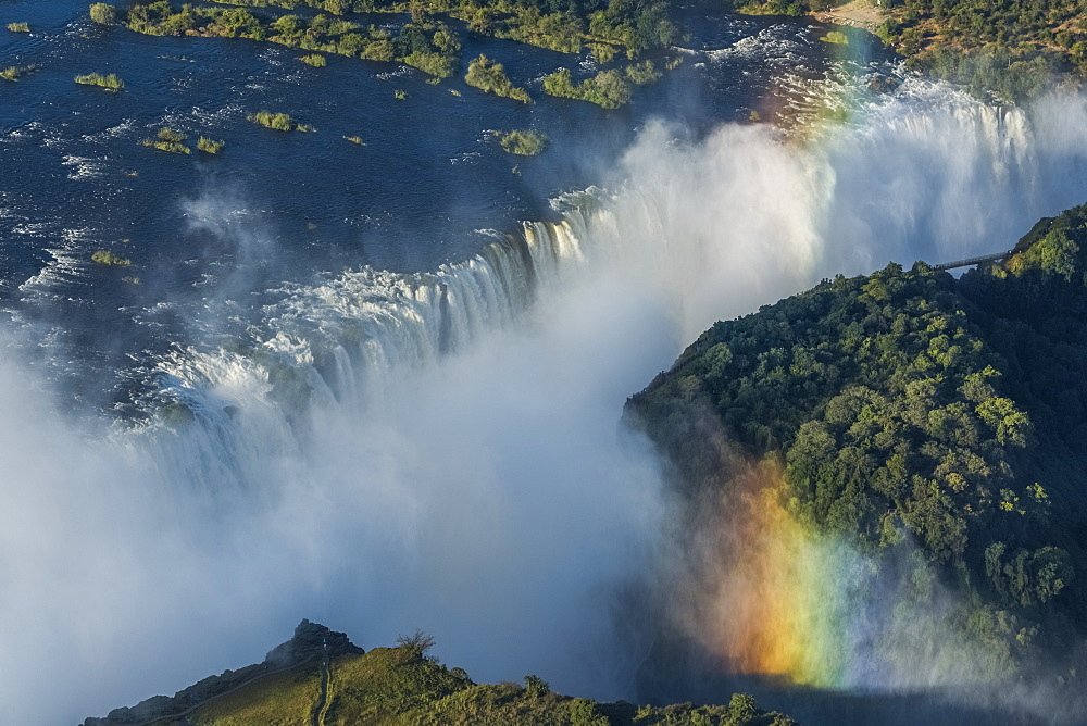 Aerial View Of Victoria Falls And Gorge, Botswana