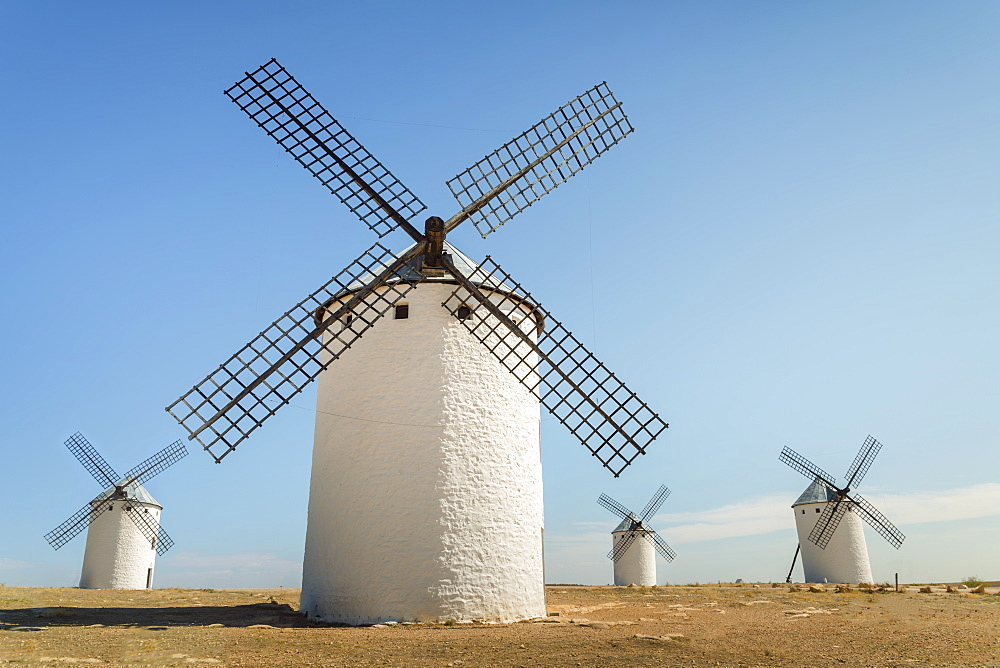 Famous Windmills In Campo Criptana, Where The Stories Of Don Quixote Come From, Ciudad Real, Castilla-La Mancha, Spain