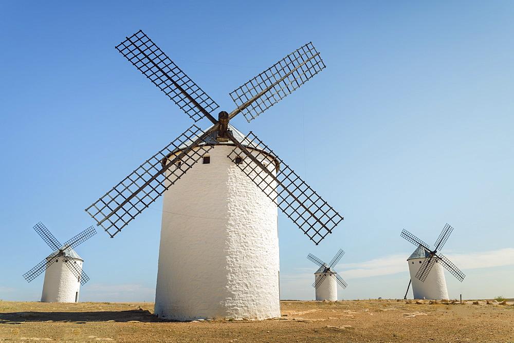 Famous Windmills In Campo Criptana, Where The Stories Of Don Quixote Come From, Ciudad Real, Castilla-La Mancha, Spain