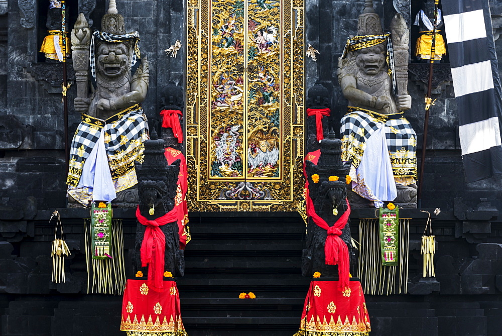 Statues At A Hindu Temple Outside Of Kuta, Bali, Indonesia