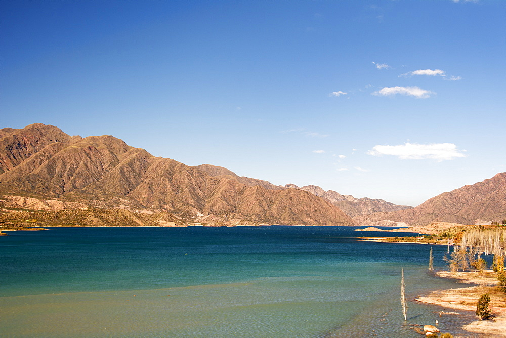 A Lake Surrounded By Colourful Desert Mountains, Potrerillos, Mendoza, Argentina - 1116-47015