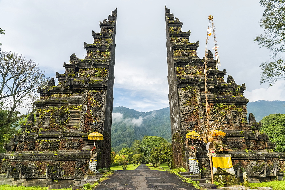 A Typical Balinese Gate, Bali Island, Indonesia.