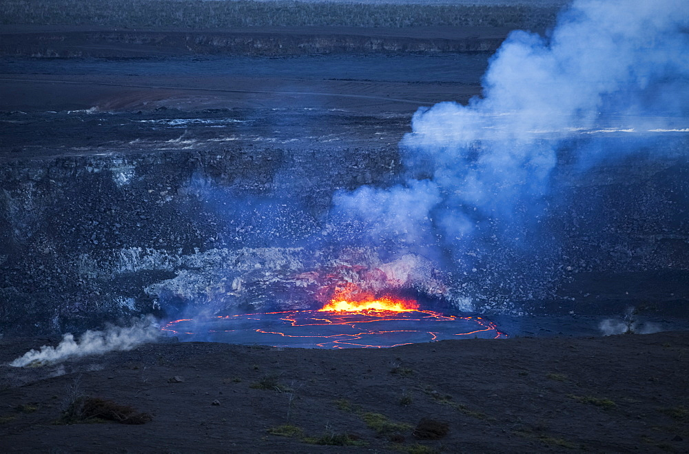 Eruption At Halema'uma'u Crater, Kilauea Caldera, Hawaii Volcanoes National Park, Island Of Hawaii, Hawaii, United States Of America
