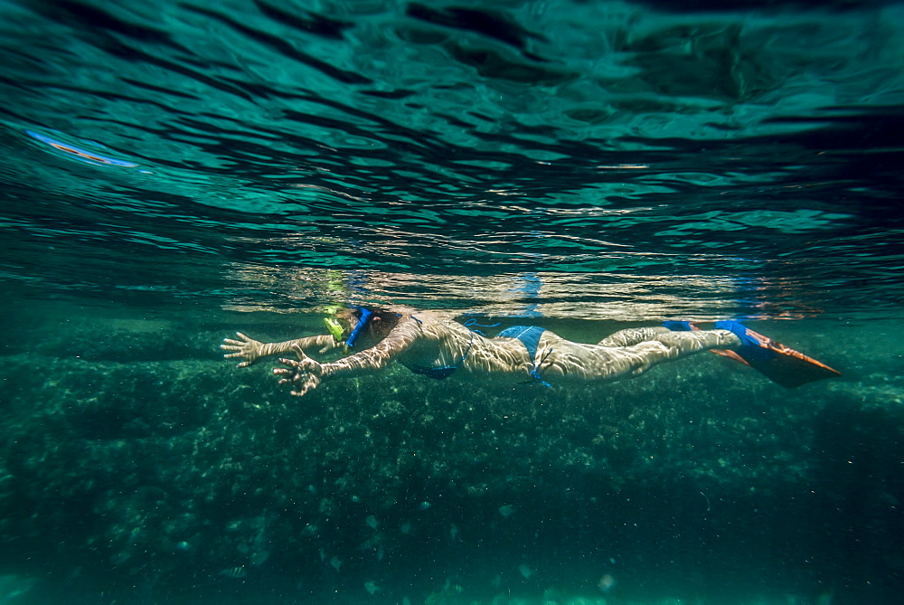 Snorkeling In Benguerra Island, The Second Largest Island In The Bazaruto Archipelago, Mozambique