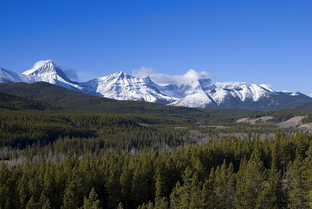 Kananaskis, Alberta, Canada; Mountain Range