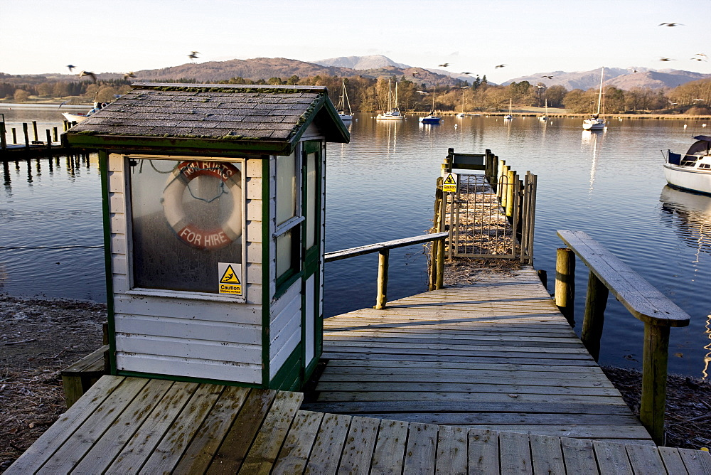 Dock In A Lake Harbor, Cumbria, England