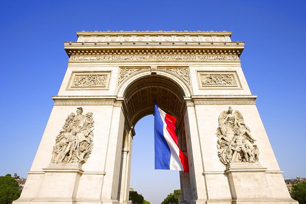 Arch De Triumph On The Champs Elysees