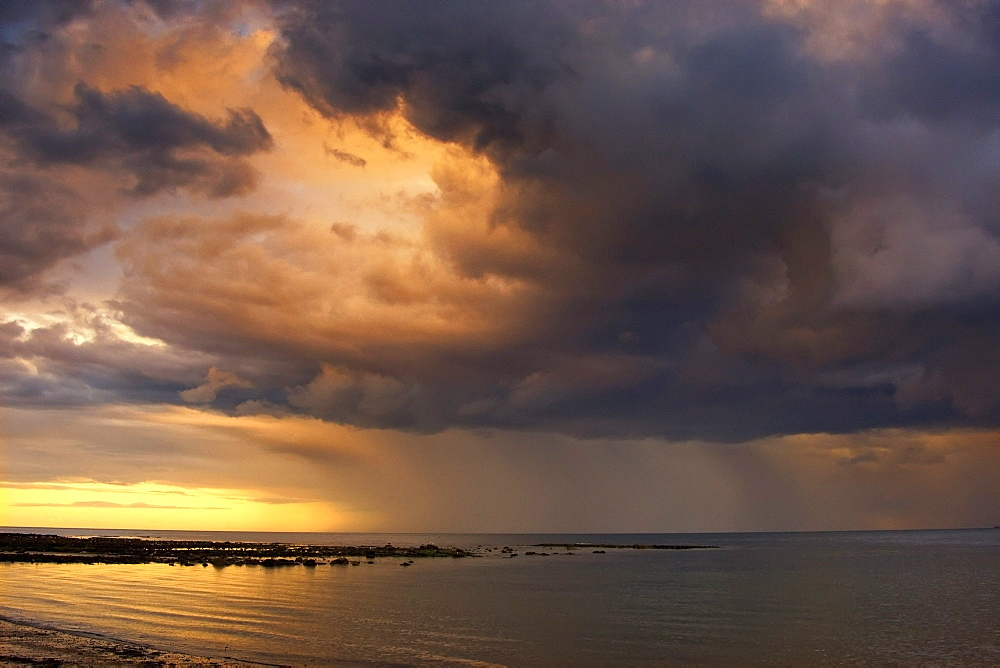 Sunset With A Stormy Sky, Sunderland, Tyne And Wear, England