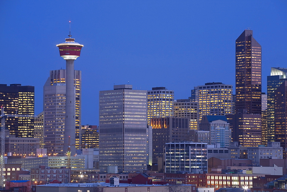 Calgary, Alberta, Canada; Skyline At Night