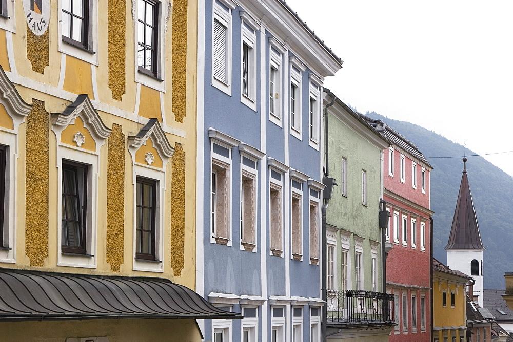 Colourful Buildings, Gmunden, Salzkammergut, Austria