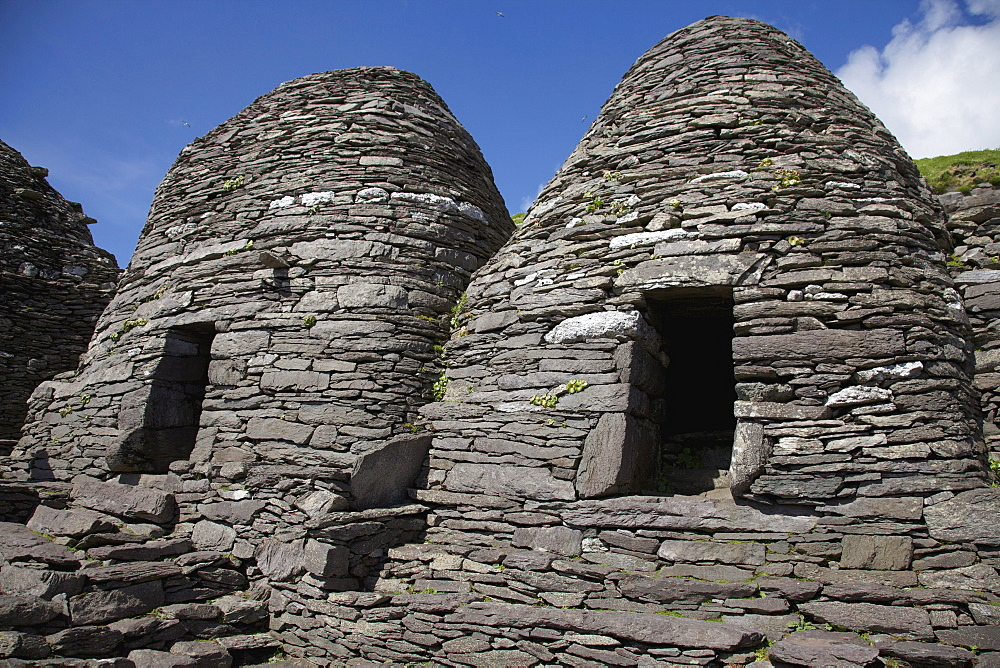 The 'beehive' Monk Huts (Clochans)On Skellig Michael; Skellig Michael, County Kerry, Ireland