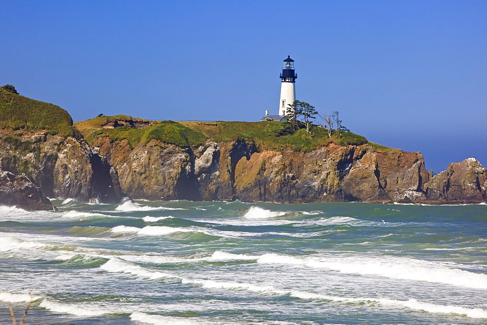 Yaquina Head Lighthouse On The Oregon Coast; Oregon, USA