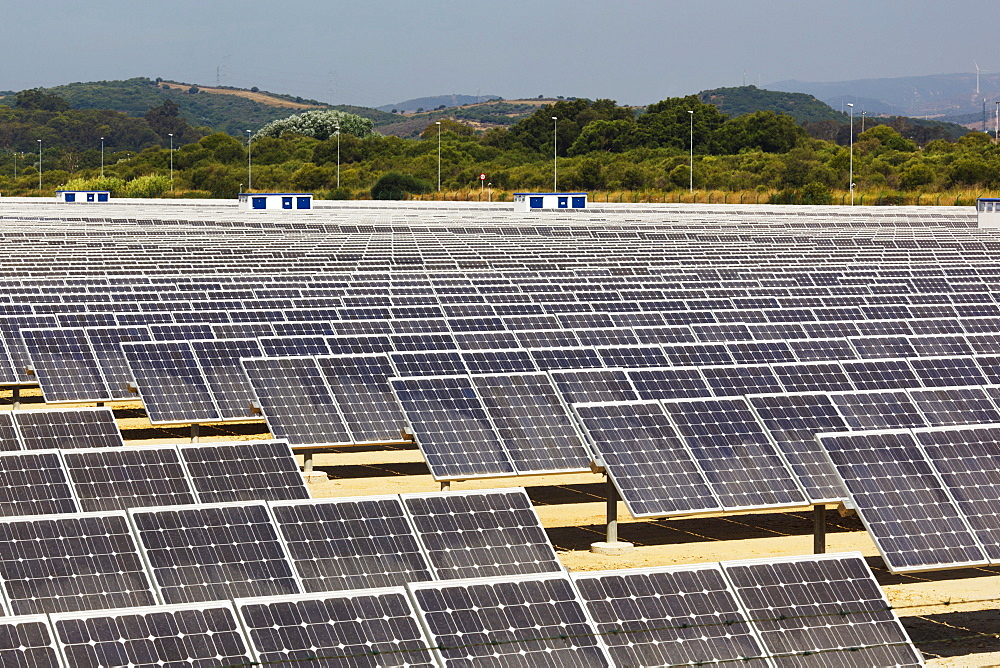Solar Energy Centre Near Guadarranque; San Roque, Cadiz, Andalusia, Spain