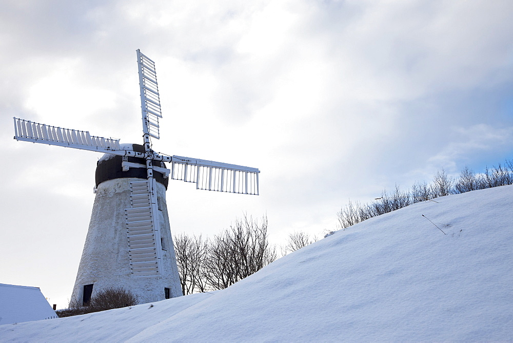 Windmill In Winter; Sunderland, Tyne And Wear, England
