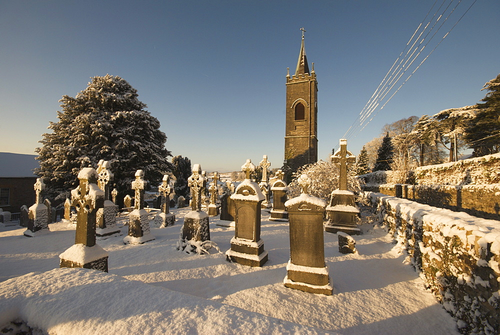 Graveyard In Winter; Thomastown, County Kilkenny, Ireland