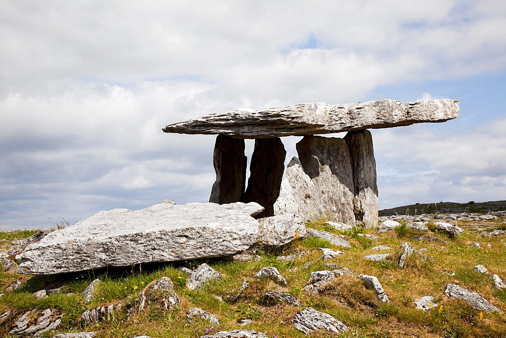 Ancient Poulnabrone Dolmen; County Clare, Ireland