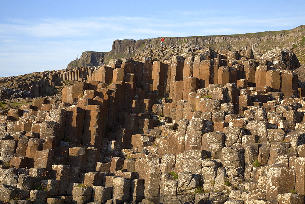 Natural Basalt Column Rock Formations; Giant'S Causeway, County Antrim, Northern Ireland