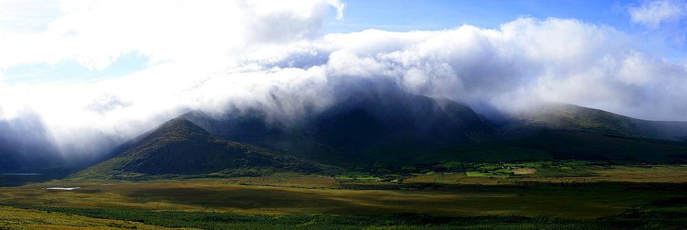 Mount Brandon In Mist Near Dingle, Kerry, Ireland, Europe