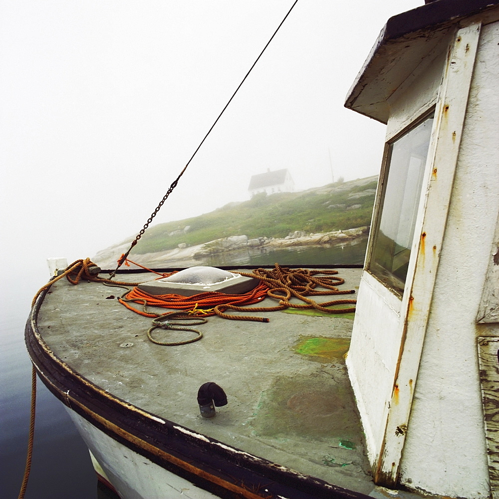 Bow Of A Fishing Boat, Peggy's Cove, Nova Scotia.