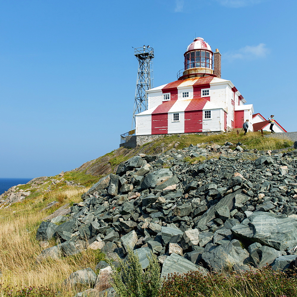 Lighthouse And Building Along The Atlantic Coast, Bonavista, Newfoundland And Labrador, Canada