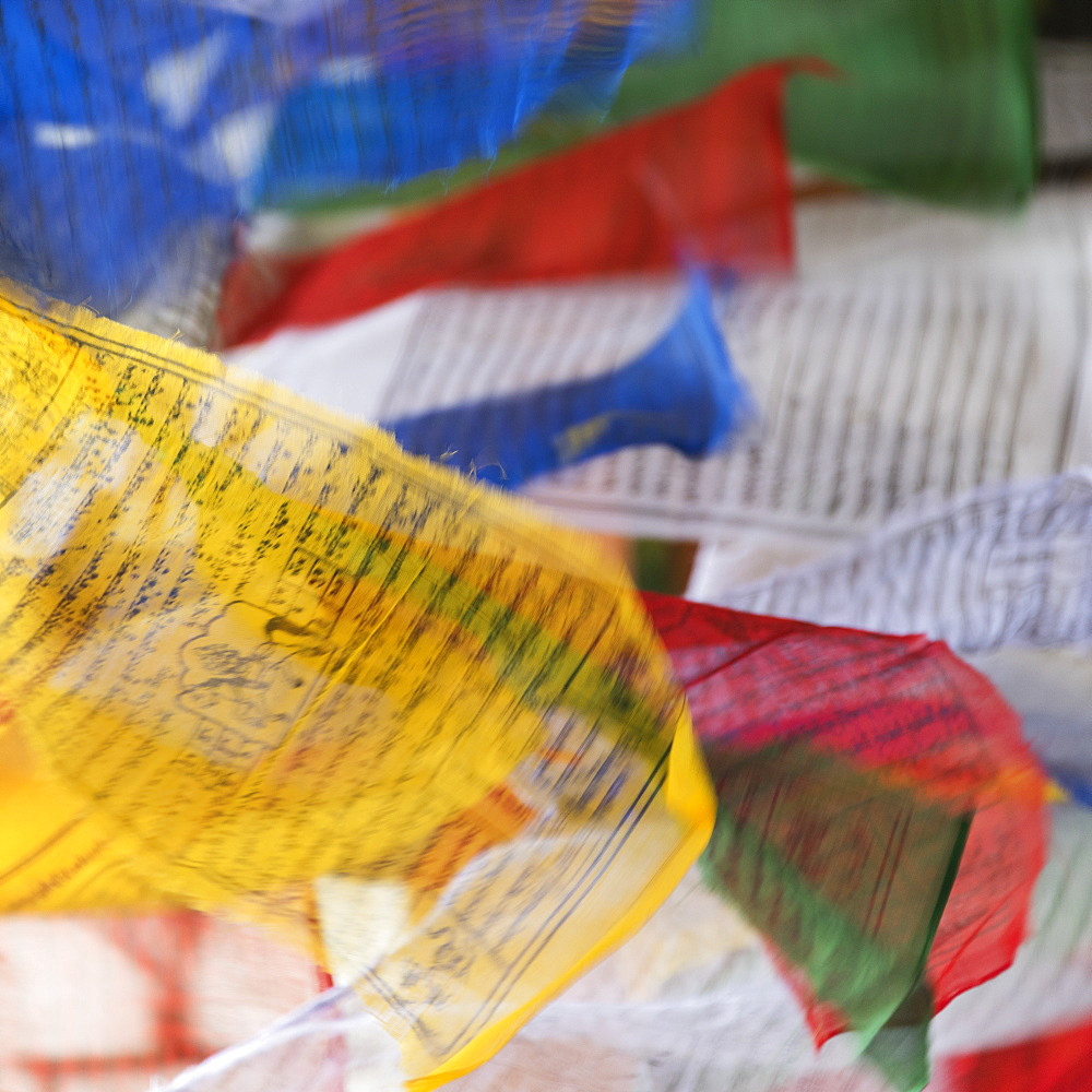 Colourful Prayer Flags, Thimpu, Bhutan