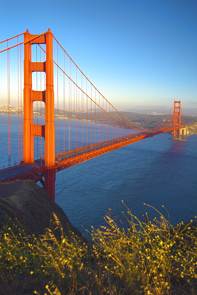 Golden Gate Bridge At Sunset; San Francisco California Usa