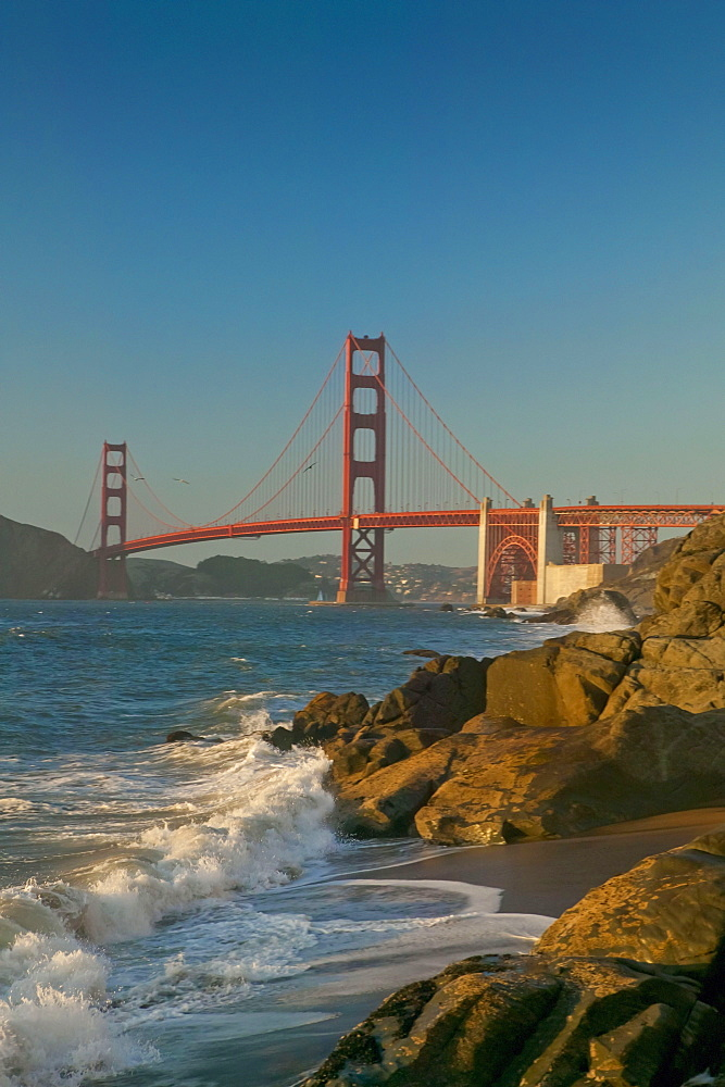 Golden Gate Bridge From Baker Beach; San Francisco, California, United States Of America