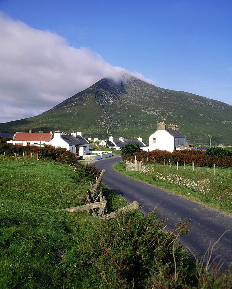 Doogort, Slievemore Mountain, Achill Island, County Mayo, Ireland