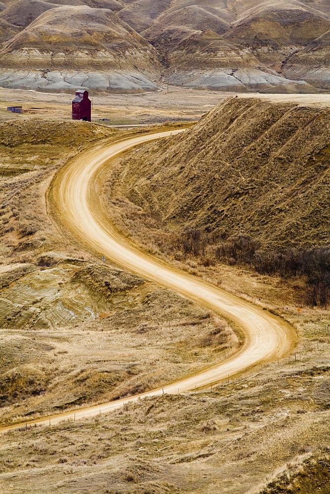 Empty Curving Road